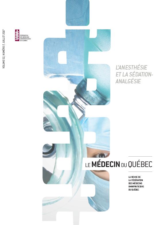 L'anesthésie et la sédation-analgésie